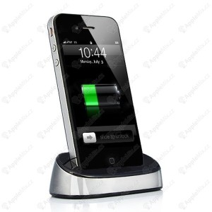 prenosna dokovaci stanice dock station pro apple iphone ipod stribrna